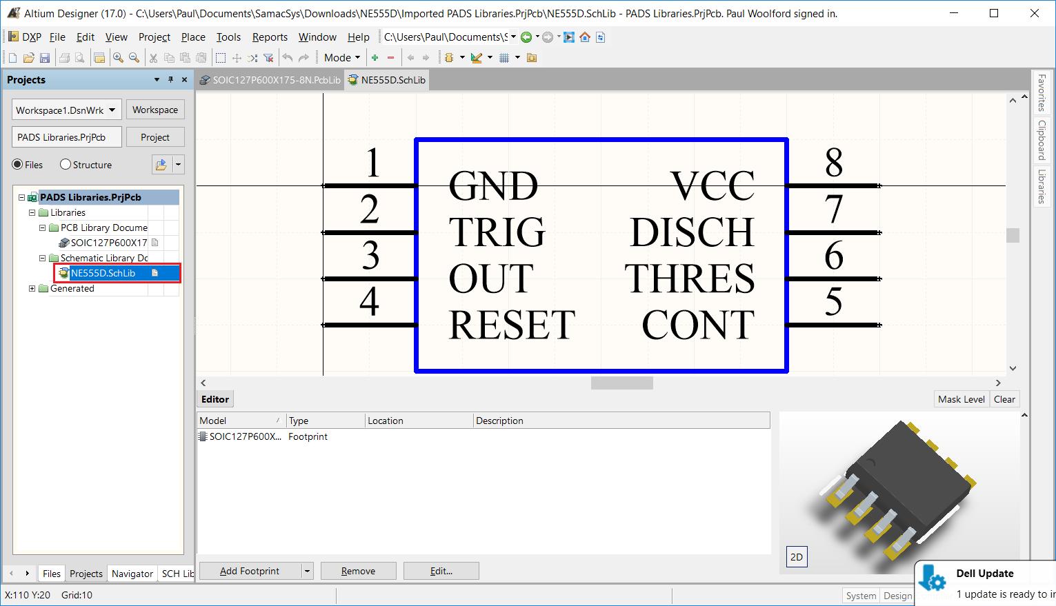 Altium Designer Pcb Library Free Footprints Symbols 3d Models Circuit Maker 2000 Software Download 8 Reopen The Schematic Document